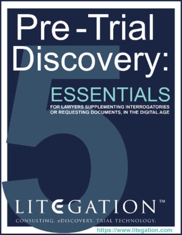 pre-trial discovery
